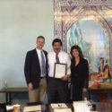Partners Pete Dickinson and Erica Deutsch congratulate co-counsel to the United Farmworkers Trust Funds Marcos Camacho who was appointed to the Kern County Superior Court by Governor Brown